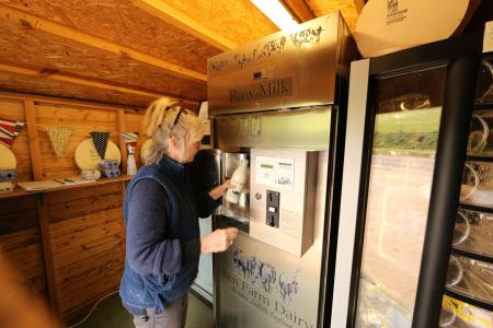Fen Farm Dairy's raw milk vending machine