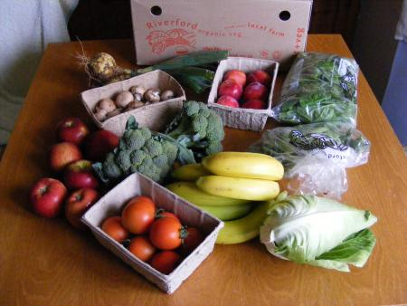 Riverford organic fruit + veg box